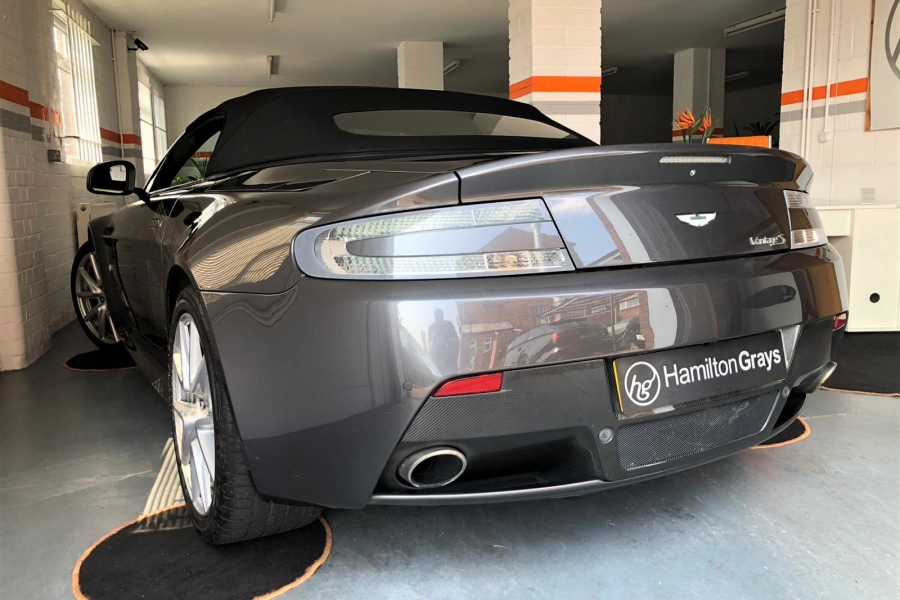 2013 62 Aston Martin Vantage 4 7 V8 S Roadster 7 Speed Sportshift Ii In Meteorite Silver Only 19 000m Fsh Just Serviced 12m Mot Sold Hamilton Grays