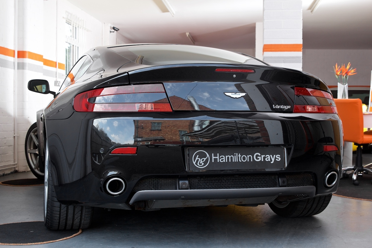 Aston Martin Vantage V8 Rear Angle 2
